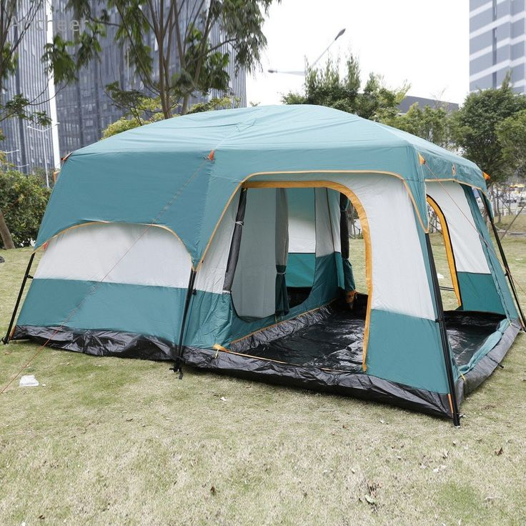 High Quality 8-Person 2 Bedroom Camping Tent With Rain Shelter