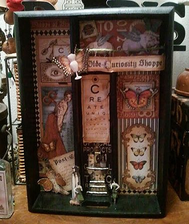 @Candy Rosenberg got this box from a friend and turned it into a faux printer tray and altered it with Olde Curiosity Shoppe! Such amazing details! #graphic45