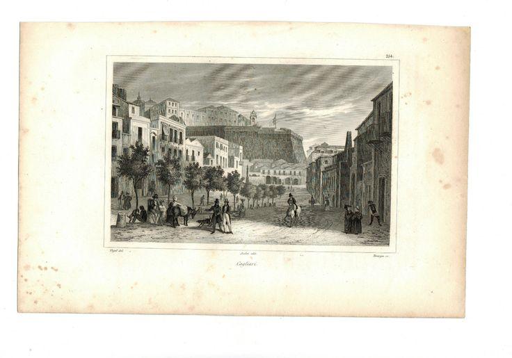 AUDOT - CAGLIARI STAMPA ANTICA DEL 1836 IN ACQUAFORTE   eBay