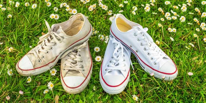 clean white shoes, Remove yellow stains
