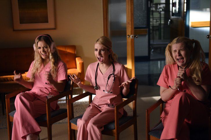 From Pink Scrubs to Furry Scarves, Sneak a Peek at the Style From Scream Queens Season 2
