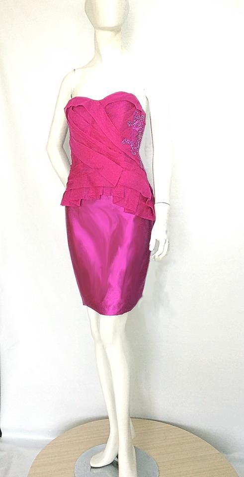 Fuchsia Shanty Dress.  Order yours by emailing us at nmayinda@gmail.com or Whatsapp us at 08111047891 or BB us at 2B07B968.