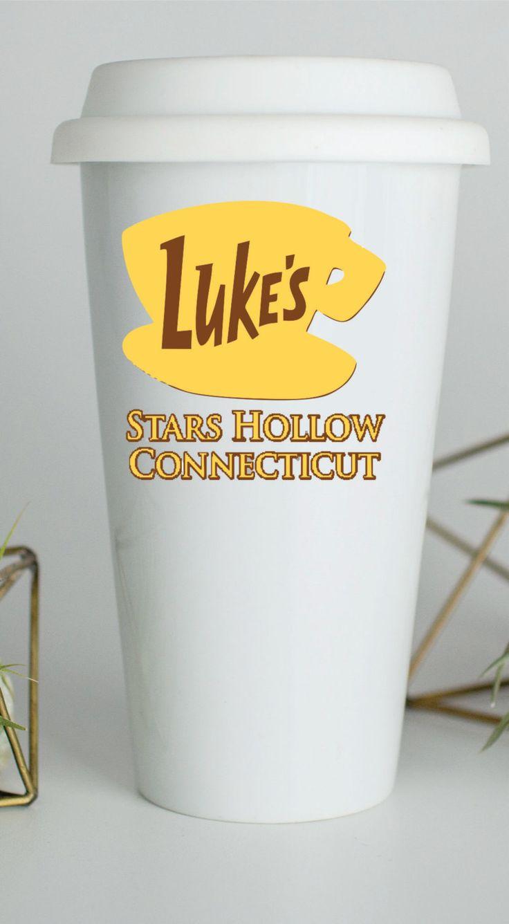 Custom Lukes Diner, Custom Luke's Diner, Custom Lukes Diner Travel Mug, Luke's Diner Mug, Lukes Diner Travel Mug, Gilmore Girls Travel Mug by BushelOfLove on Etsy