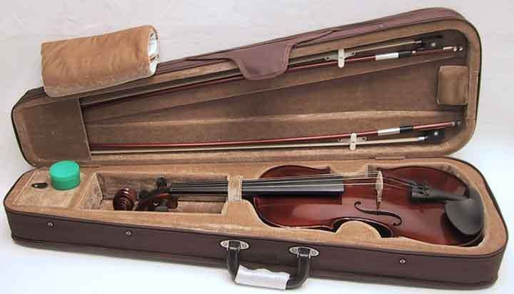 New 4/4 Full Size Violin w Rosin, Brown Case+Extra Bow #Violin $59.99