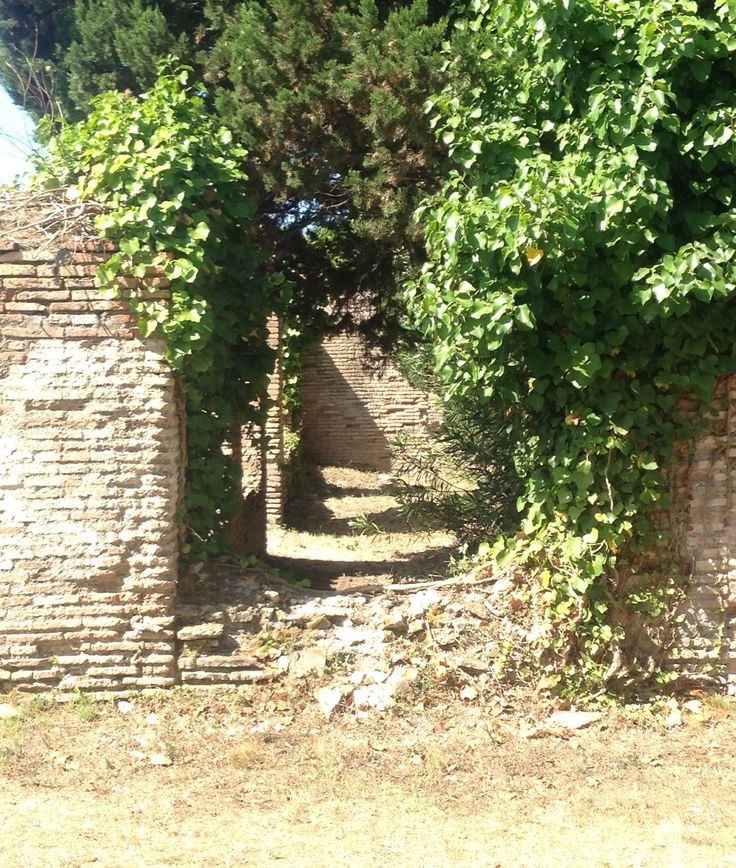 Old doorway at Ostia Antica, day 4.