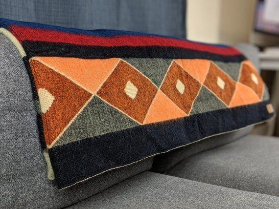 Alpaca Blanket Queen Size Blue Orange Geometrical Pattern Native Design Camping Blanket Boho Sofa Decor Spanish Blanket In 2020 Alpaca Blanket Tribal Blanket Boho Tribal Blankets