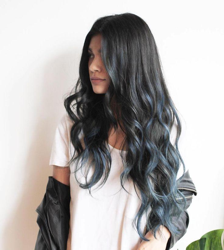 хочется цветные пряди на черных волосах фото рода
