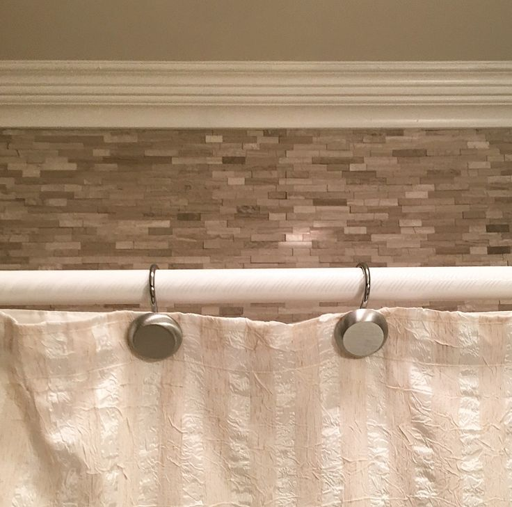 Tile Above Bath/ Shower Insert In Guest Bath. These Are