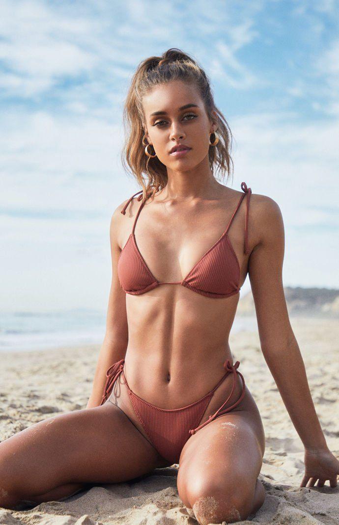 e6e39ea4d1 LA Hearts Brown Playa Tied Up Bralette Bikini Top in 2019 | Style ...