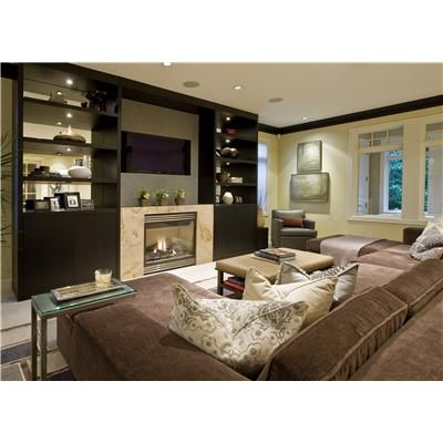 Casual Contemporary Family Room by Garret Werner - great room for hanging out it.