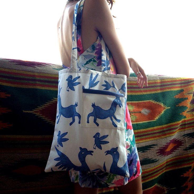 Bag fabric birds