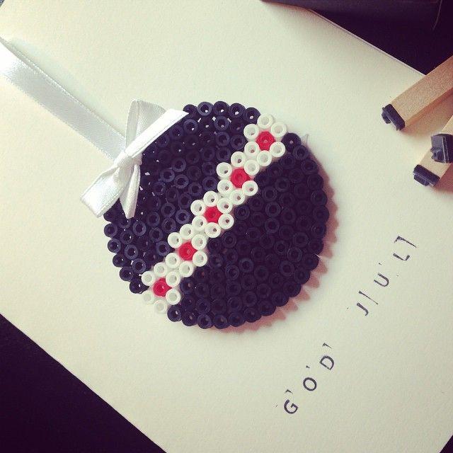 Christmas card perler beads by diysweden
