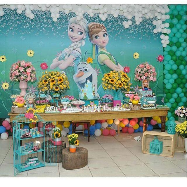 Festejando em Casa by Monalisa @festejandoemcasaoficial Frozen Fever por ...Instagram photo   Websta (Webstagram)