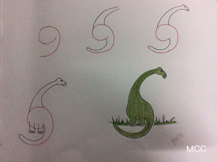 Easy dinosaur 9