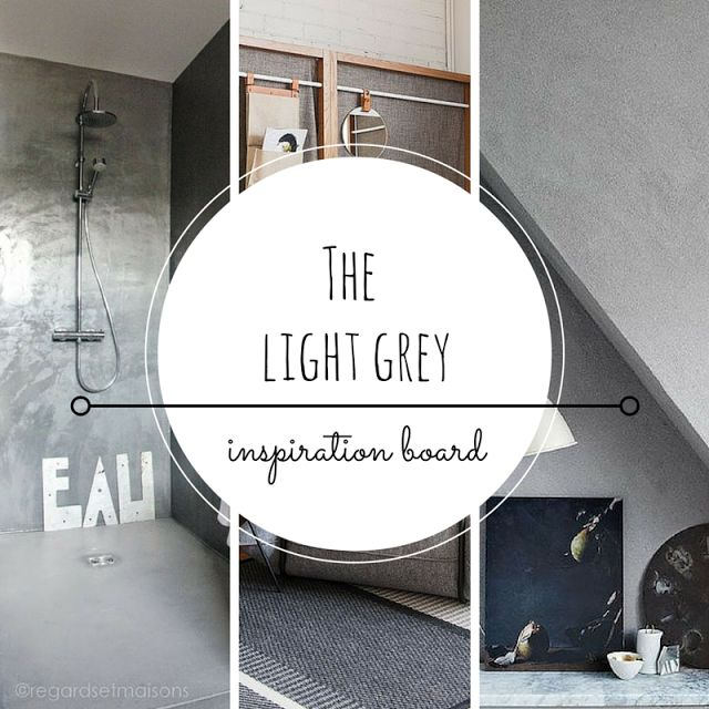 Light grey color inspiration, light grey decoration, grey walls, grey home products, grey design •the Round Button blog
