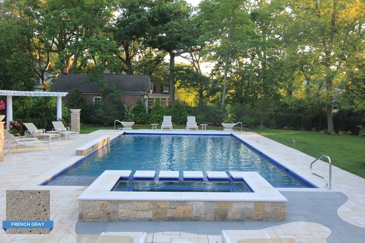 Krystalkrete french gray is plastered in this rectangular for Pool design rectangular
