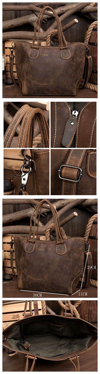 Leather Shoulder Bag, Leather Laptop Bag, Made with Genuine Leather MS077