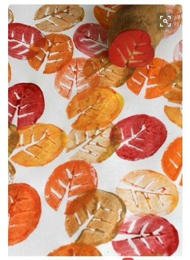Herfs aartappel afdrukke