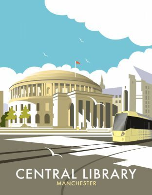 Manchester Central Library, By illustrator, Dave Thompson wholesale fine art print