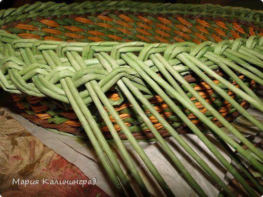 Поделка изделие Декупаж Плетение Раз шкатулка  два шкатулка   Бумага газетная Картон Трубочки бумажные фото 10