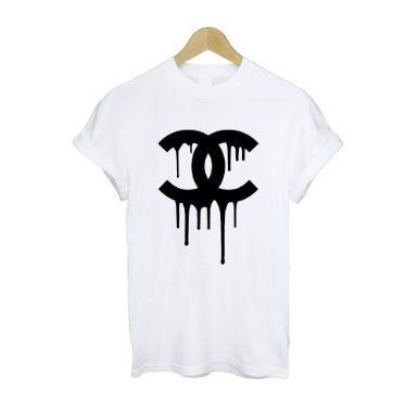 Dripping Chanel Logo Cocaine And Caviar T Shirt By