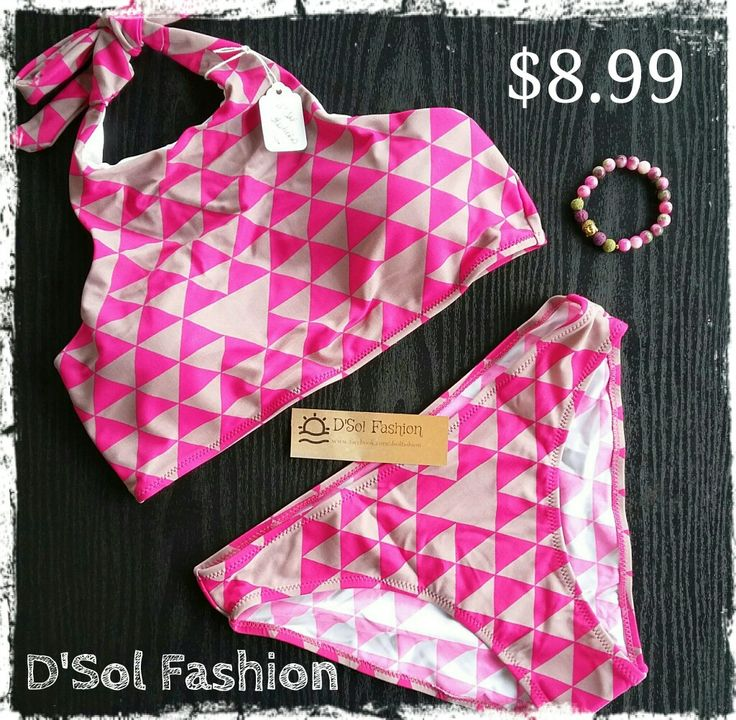 Geometric pattern bikini on sale only $8.99 plus free shipping. This and more hot swimsuits for sale on D'Sol Fashion Facebook Store. Stock is limited so hurry, don't miss this deal!