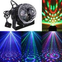 Music Active RGB Rotating LED Stage Crystal ball Xmas Club DJ Party Disco Light EU Plug