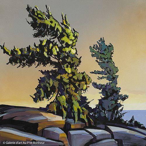 Jerzy Werbel, 'Ceremony Spirit', 40'' x 40'' | Galerie d'art - Au P'tit Bonheur - Art Gallery