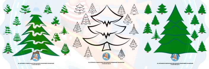 Christmas Trees Clip Art for Learning Activities