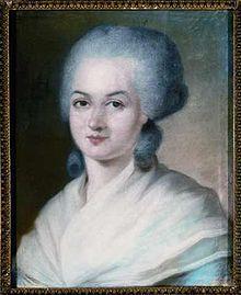 """Olympe de Gouge guillotinée  pendant la révolution française est l'auteure de la  """" Déclaration des droits de la femme et de la citoyenne"""" . est considérée comme une des pionnières du féminisme. Elle a aussi lutté pour l'abolition de l'esclavage"""