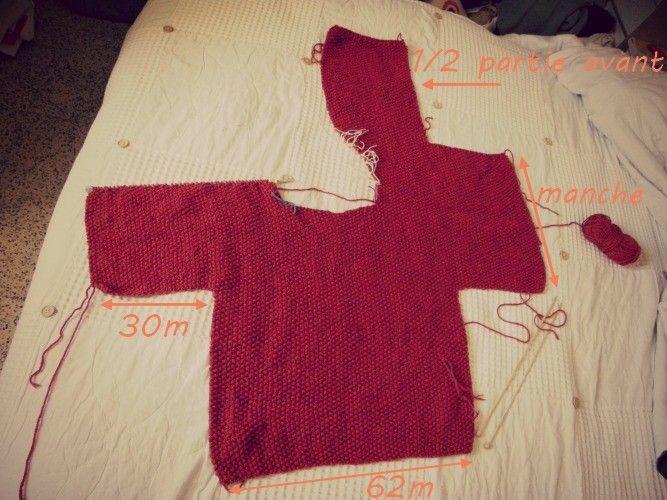 Le carnet de sophie tricot facile le gilet des paresseuses 1 tricot pinterest tricot - Modele mitaine tricot facile ...