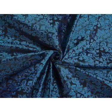 """SPUN  BROCADE FABRIC BLUE 44"""""""