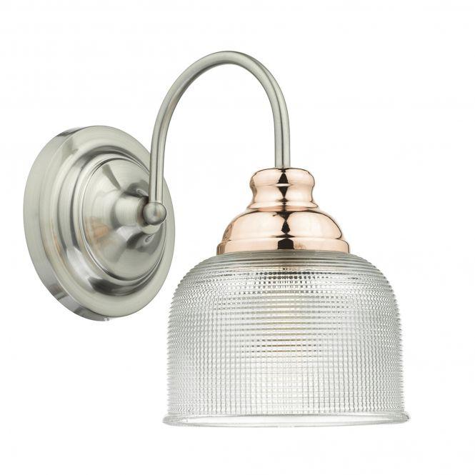 Dar Lighting Wharfdale Satin Chrome Wall Light - Fitting Type from Dusk Lighting UK
