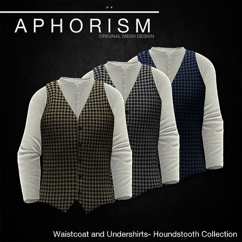 !APHORISM! WAISTCOAT HOUNDSTOOTH COLLECTION | Flickr - Photo Sharing!