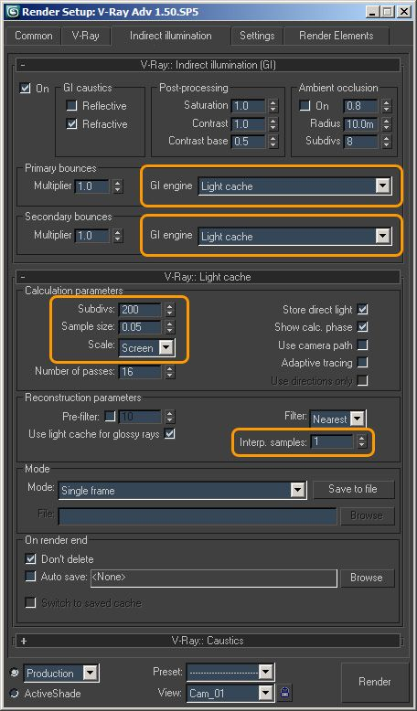 Making sense of vray settings