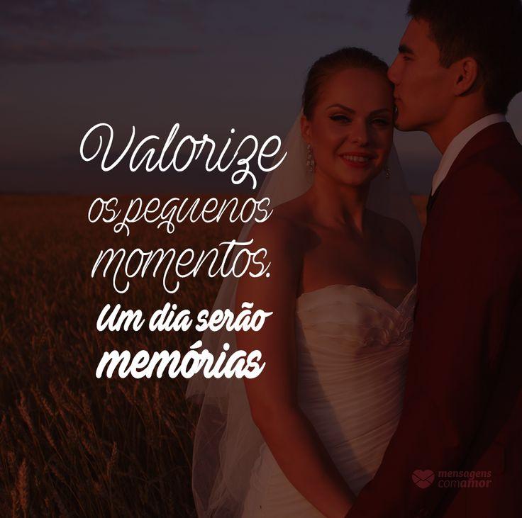 Valorize os pequenos momentos. Um dia serão memórias. #mensagenscomamor #momentos #prazeres #memórias #frases #reflexões