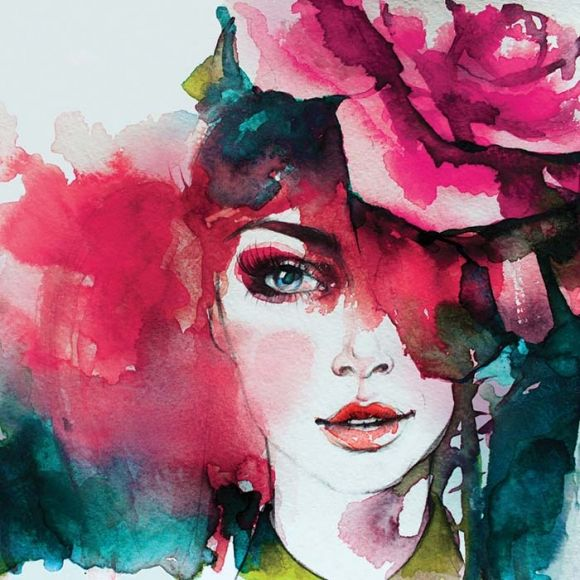 tavlor med modern konst och härliga färger | canvastavlor med cerise och rosa
