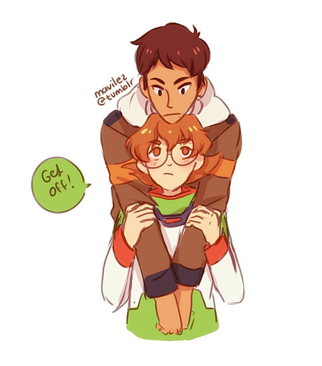 After watching Voltron for the third time now, I have decided the these two are my new favorite ship!!