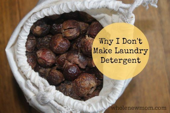 Recipe for liquid laundry detergent from soap nuts in comments