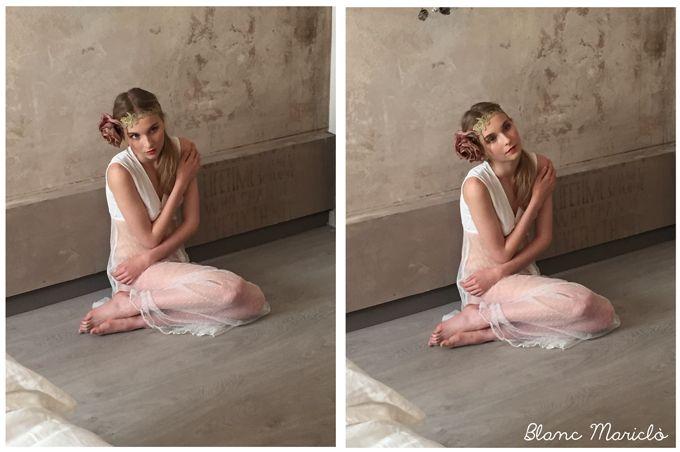 romantic shabby chic sleepwear Blanc Mariclò