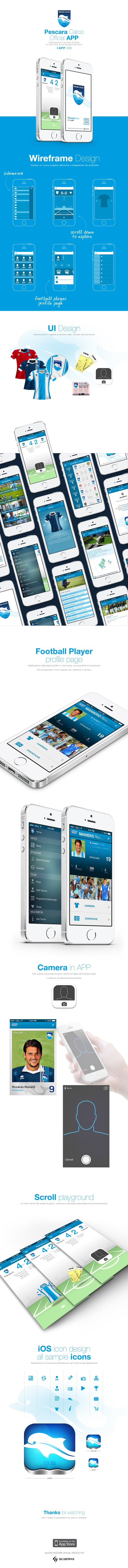 Official App Pescara Calcio by Fabio Murru, via Behance