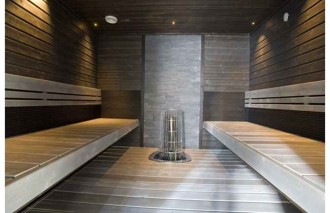 love the tones in this sauna