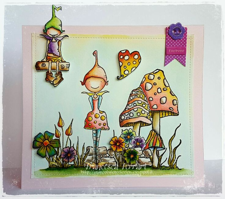 Folletteggiando  (Stampendous Pink Your Life stamps)