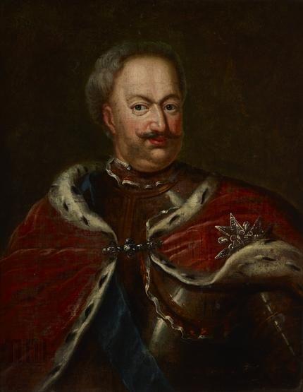 Schroeder, Georg Engelhardt (1684-1750) (?), Portret Stanisława Leszczyńskiego ( 1677 - 1766 ), króla Polski.  #listopad #movember #wąsy #moustache #november
