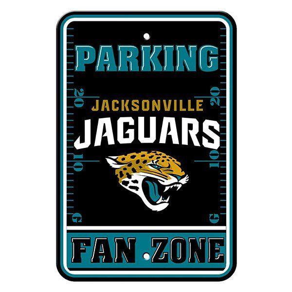 """Jacksonville Jaguars Parking Fan Zone Sign 12"""" x 18"""" – Eicholtz Sports"""