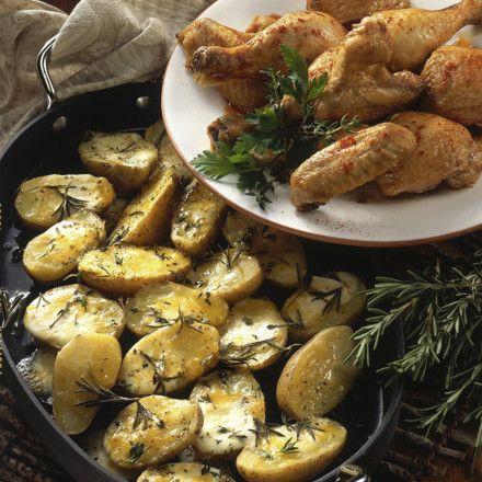 Überbackene Kartoffeln mit Hähnchen Rezept | LECKER