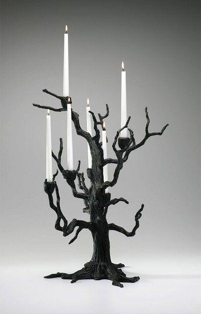 Dark Branches Candelabra