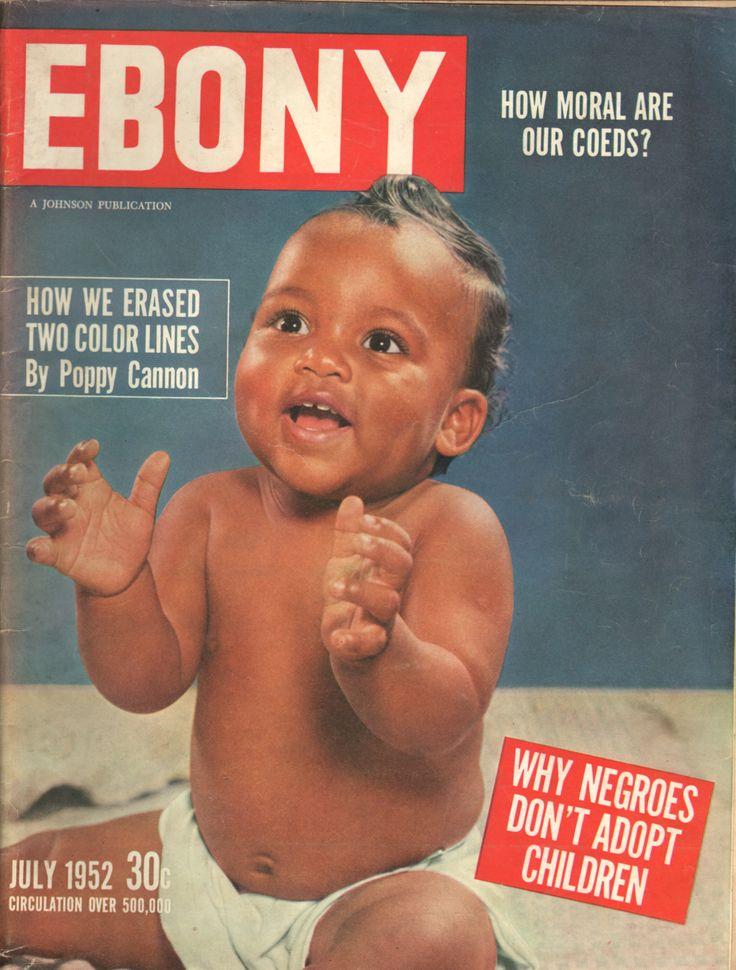 Cover of Ebony magazine from July 1952