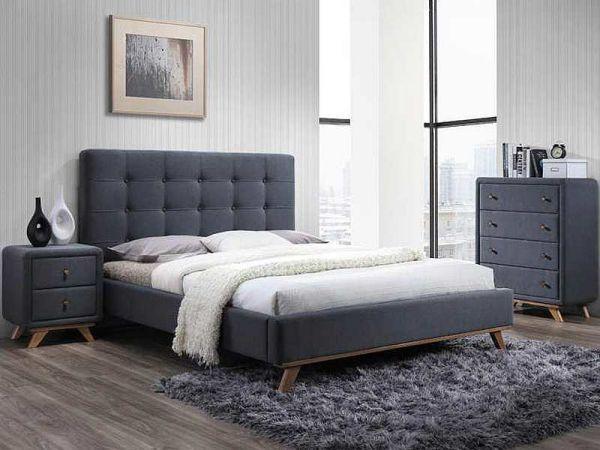 Кровать MELISSA (Мелисса) (160/200)(Signal) серая, с основанием  164