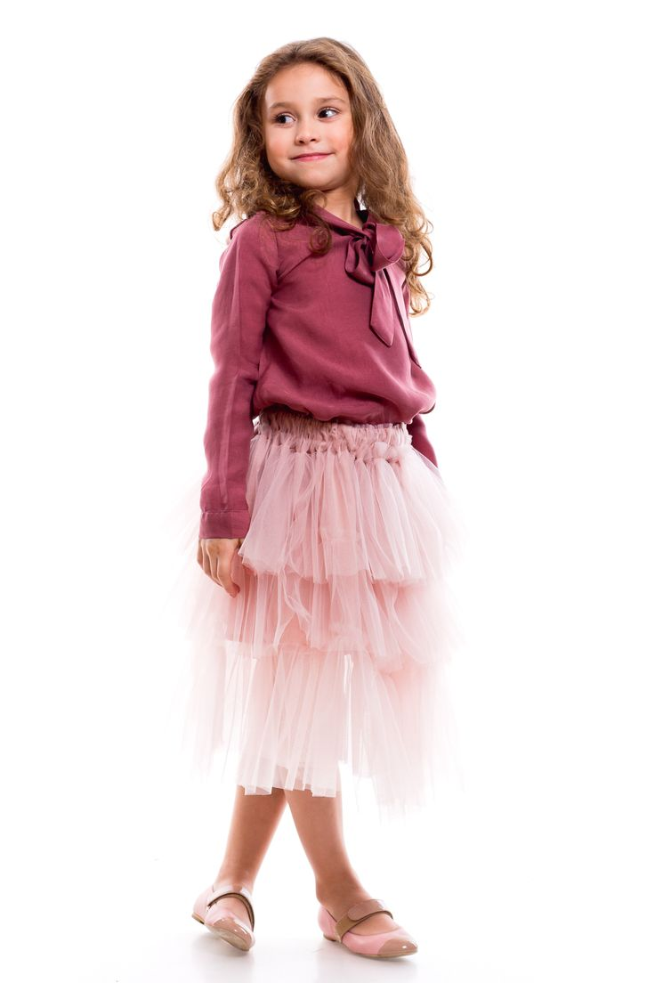 When they get serious, you can choose this outfit from Designers for Kids. The urban princess look suitable for street style...